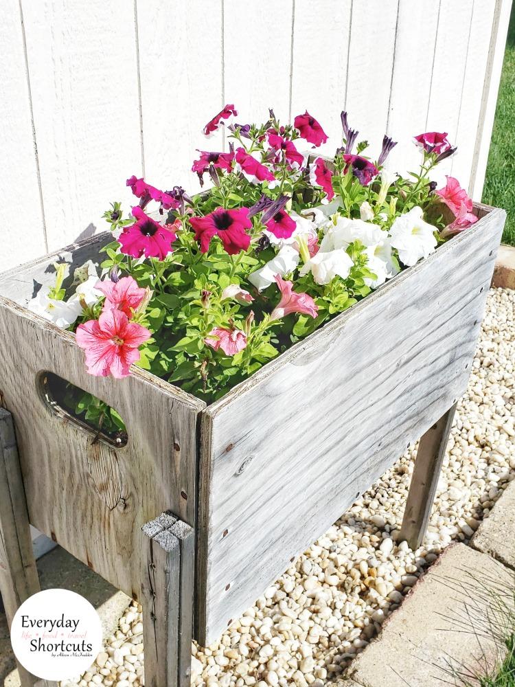 DIY Raised Flower Box with Legs