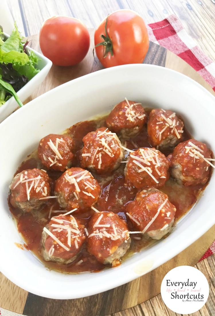 Keto Meatballs with Marinara Sauce