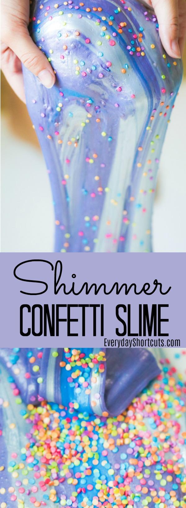 Shimmer Confetti Slime