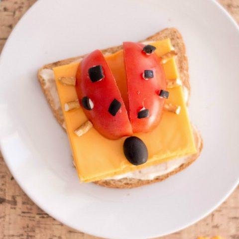 Open-Faced Ladybug Sandwich