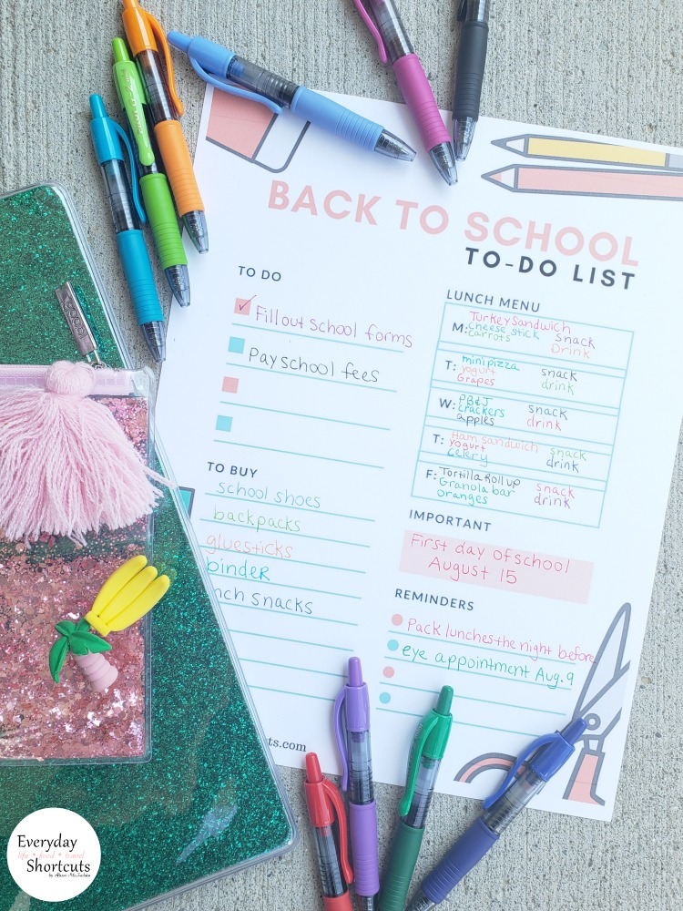 Back to School Printable To-Do List