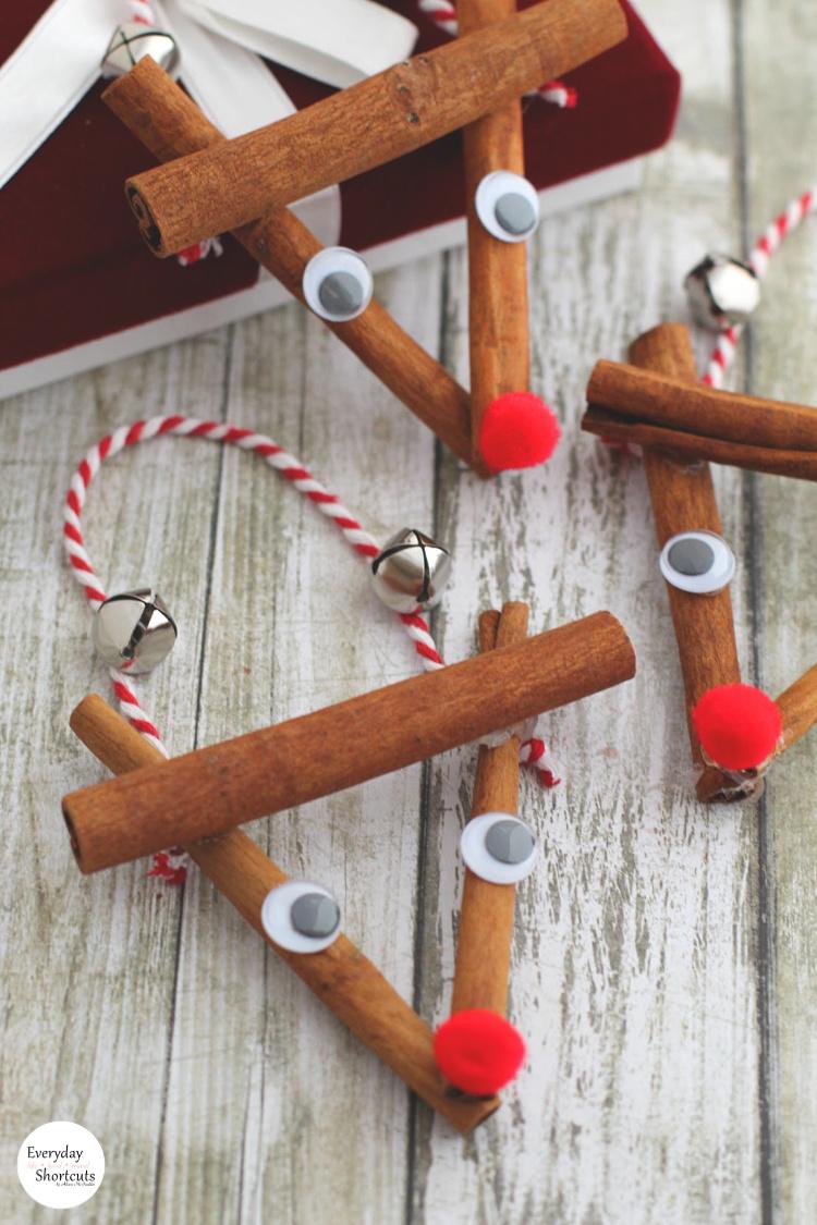DIY Rustic Rudolph Ornament