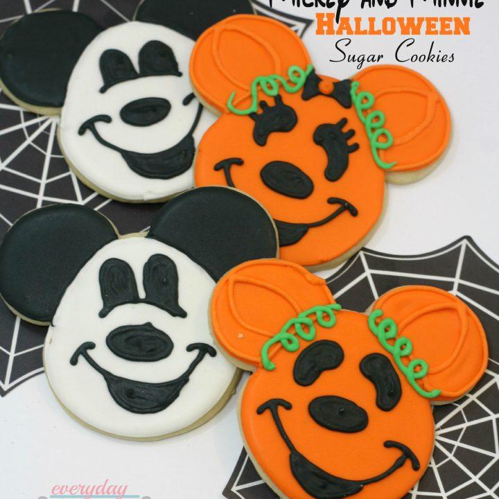 Mickey & Minnie Halloween Sugar Cookies