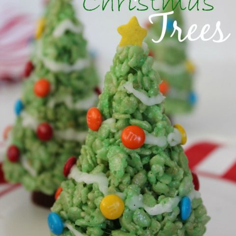 Rice Krispie Treat Christmas Trees