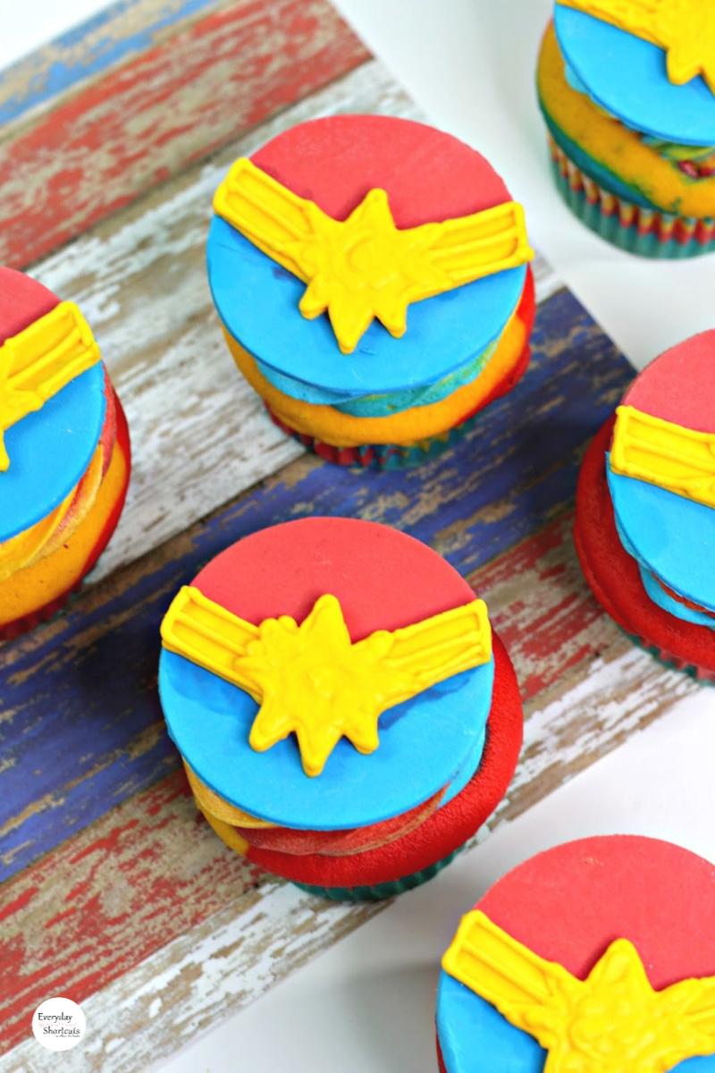 Captain Marvel Cupcakes