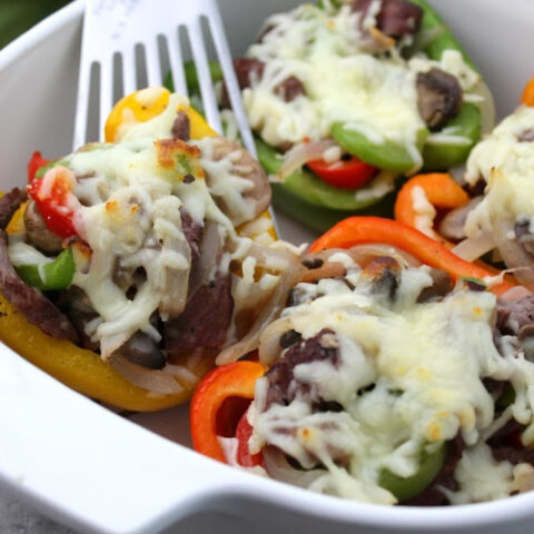 Keto Philly Cheesesteak Stuffed Peppers