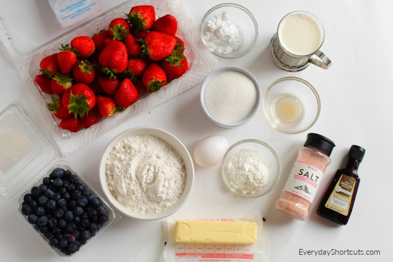 how to make gluten free patriotic berry pie