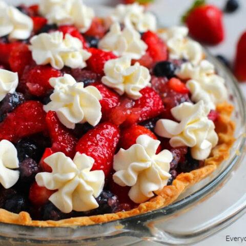 Gluten Free Patriotic Berry Pie