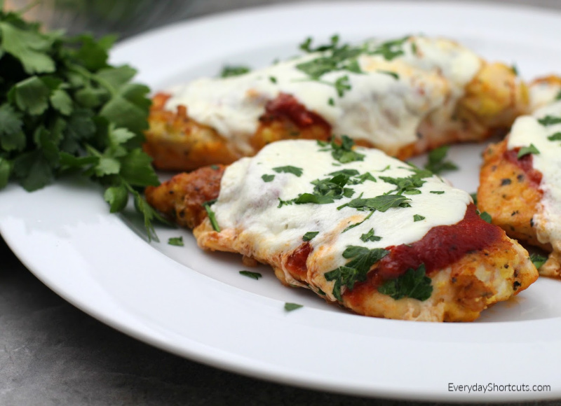 keto chicken covered in cheese