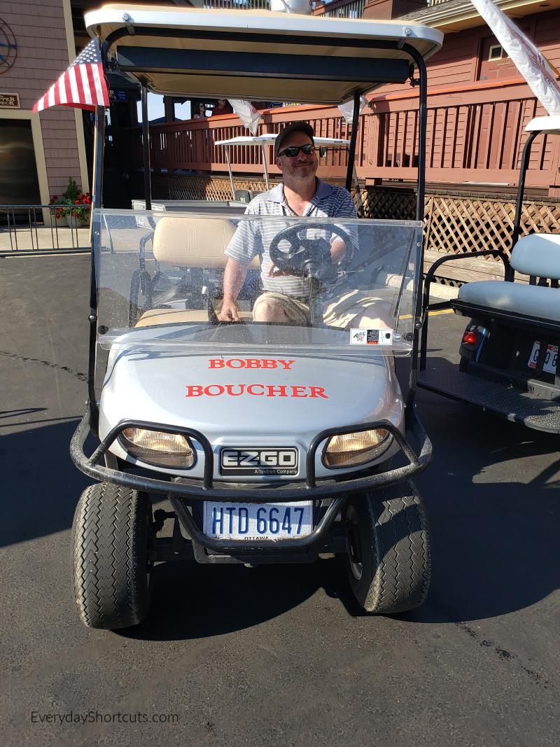 golf cart at put in bay