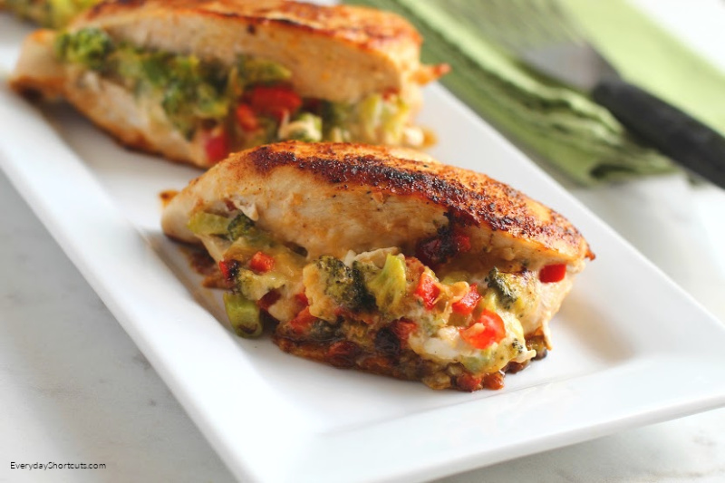 how to make Low Carb Broccoli Cheese Stuffed Chicken
