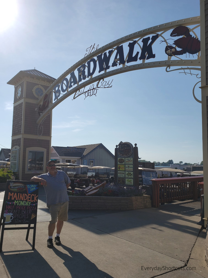 the boardwalk at put in bay