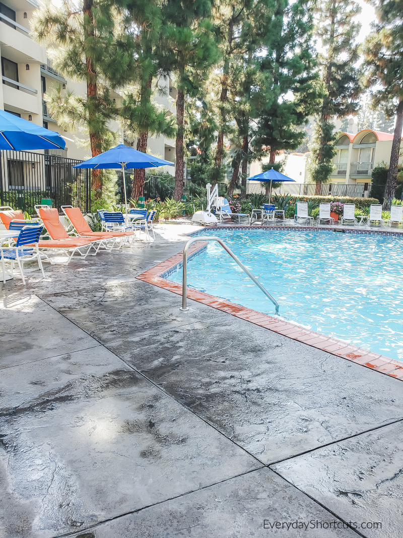 garden pool at hojo anaheim