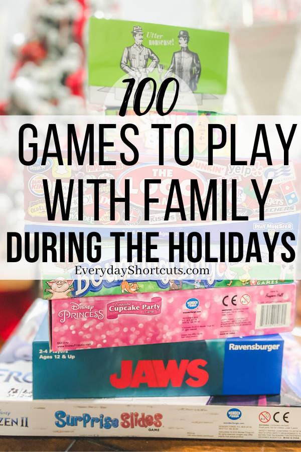 Games to Play with Family During the Holidays