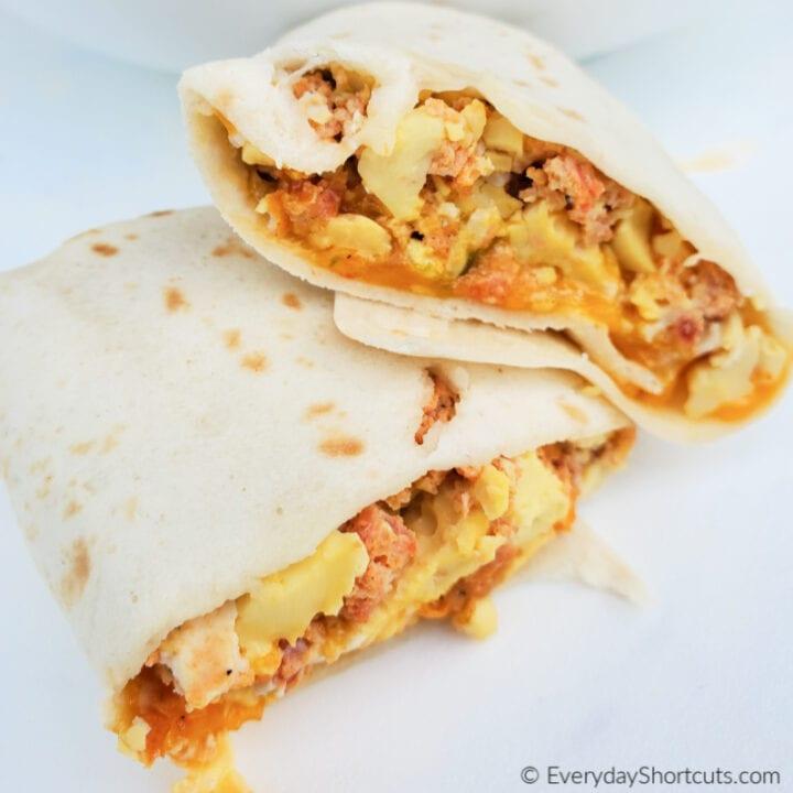 Low Carb Crock Pot Breakfast Burritos