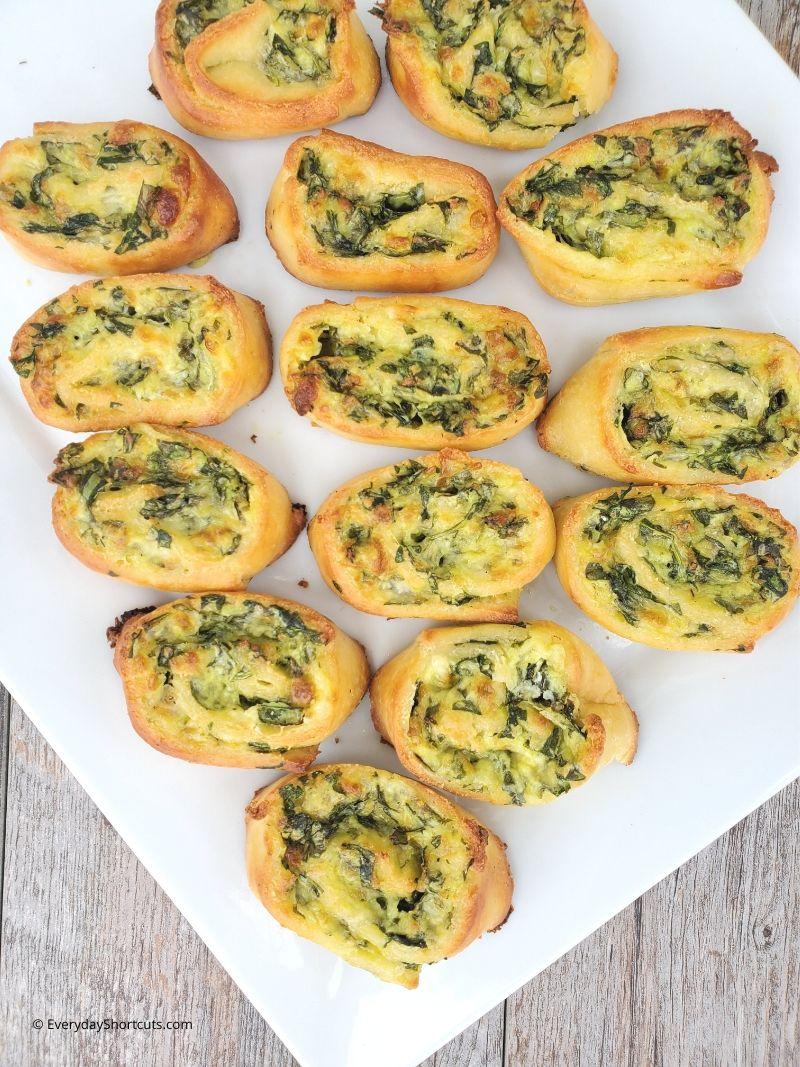 Keto Cheesy Spinach Roll Ups