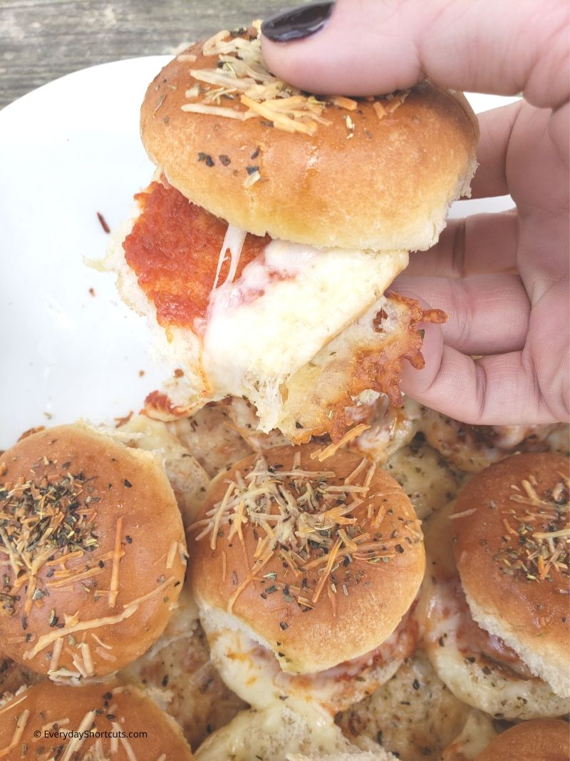 cheesy meatball sliders
