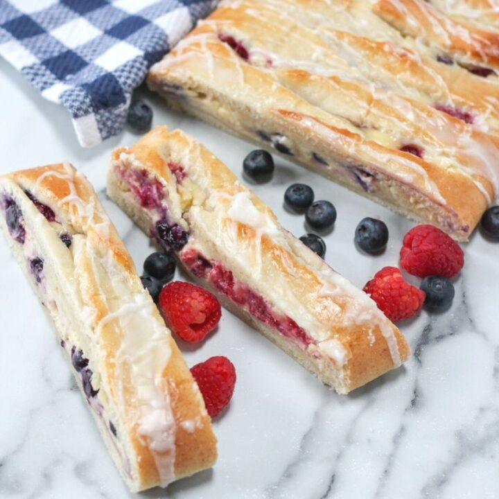 Fresh Berries Danish with Lemon Glaze