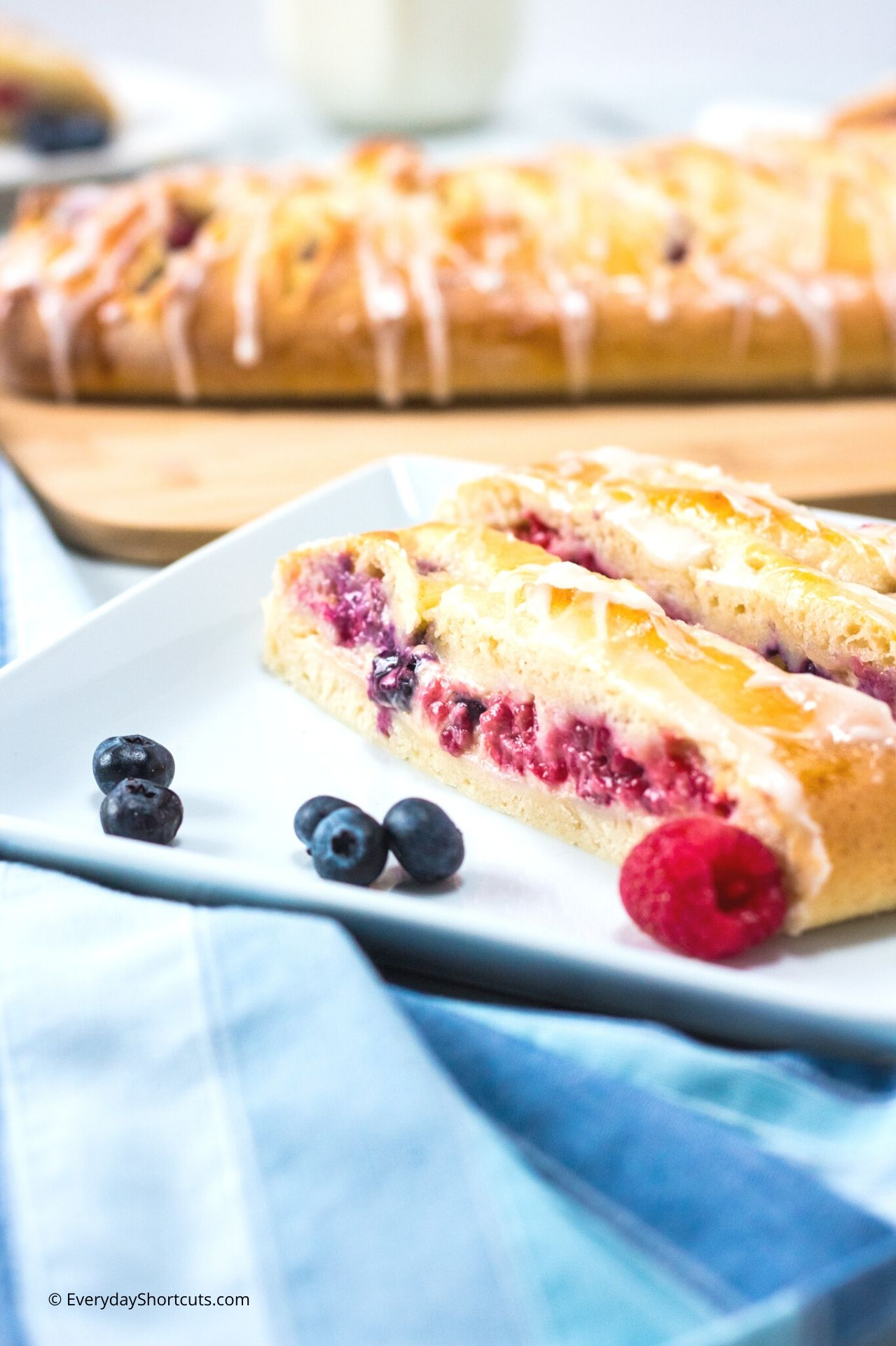 How to Make Fresh Berry Danish with Lemon Glaze
