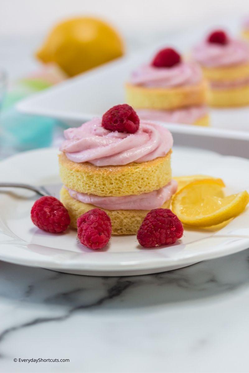 Lemon Raspberry Stack Cakes