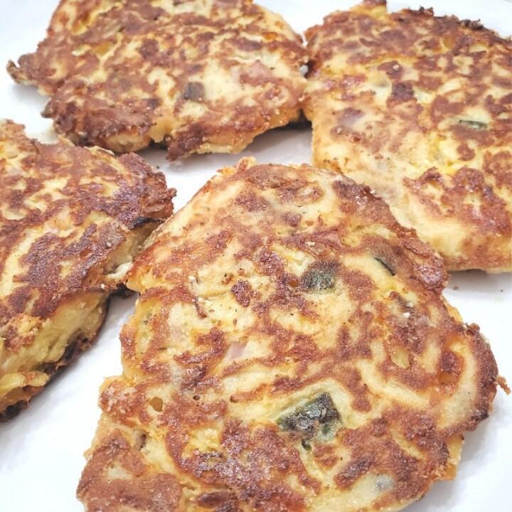 Loaded Fried Mashed Potato Cakes