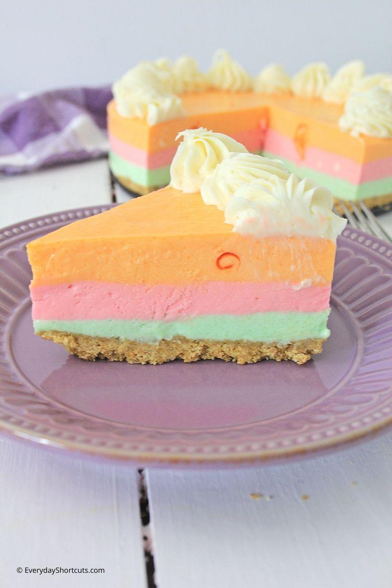 Rainbow Sherbert Cheesecake