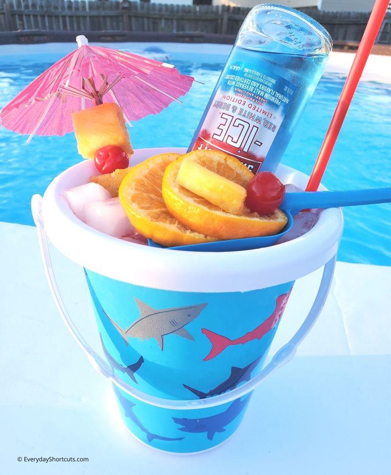 beach bucket cocktail