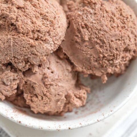 Keto No-Churn Chocolate Ice Cream