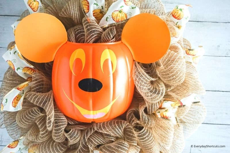 fall pumpkin Mickey wreath