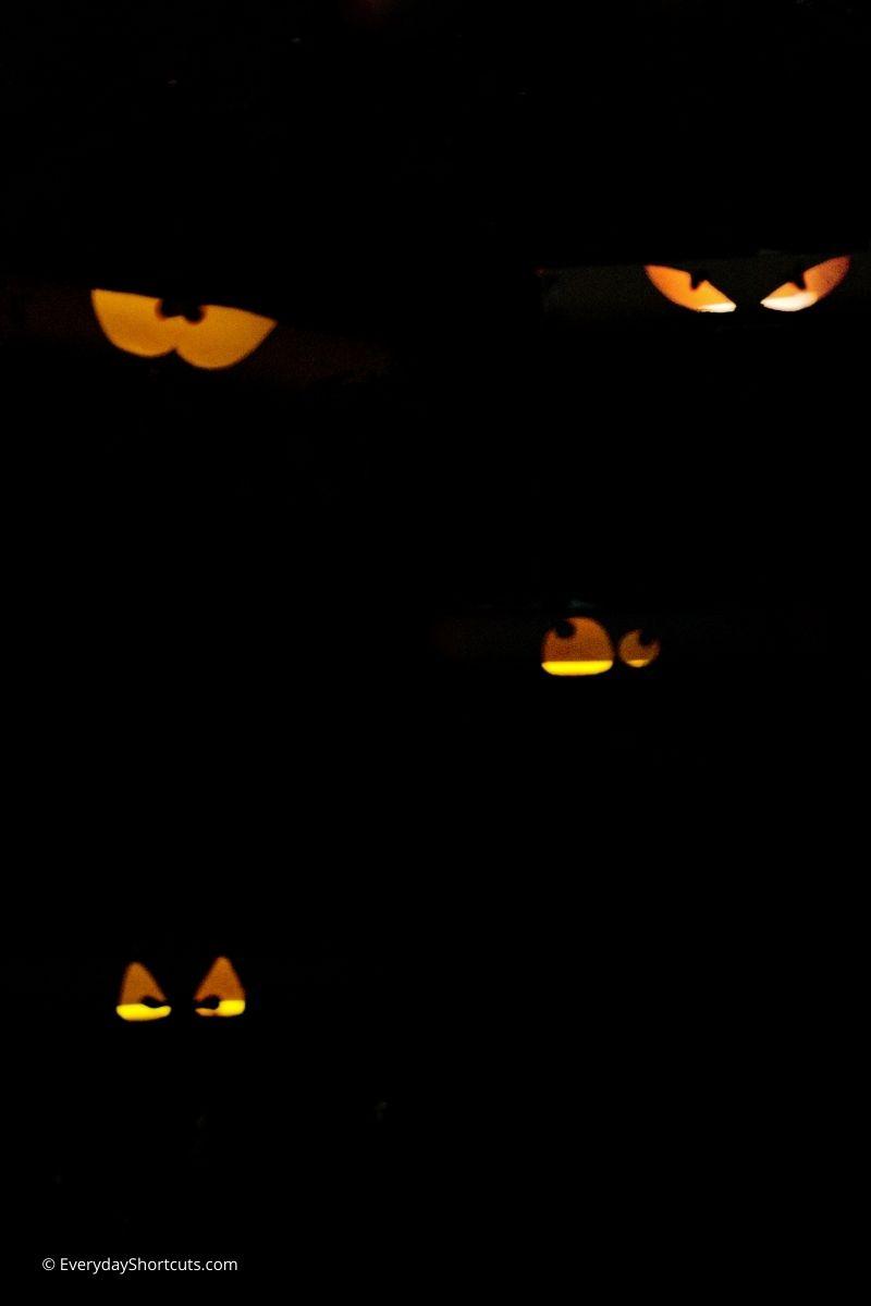 DIY Glowing Halloween Eyes