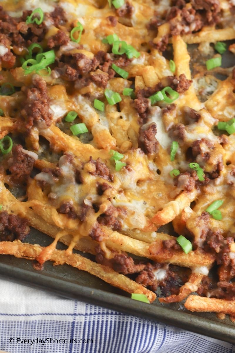 how to make Sloppy Joe Cheese Fries