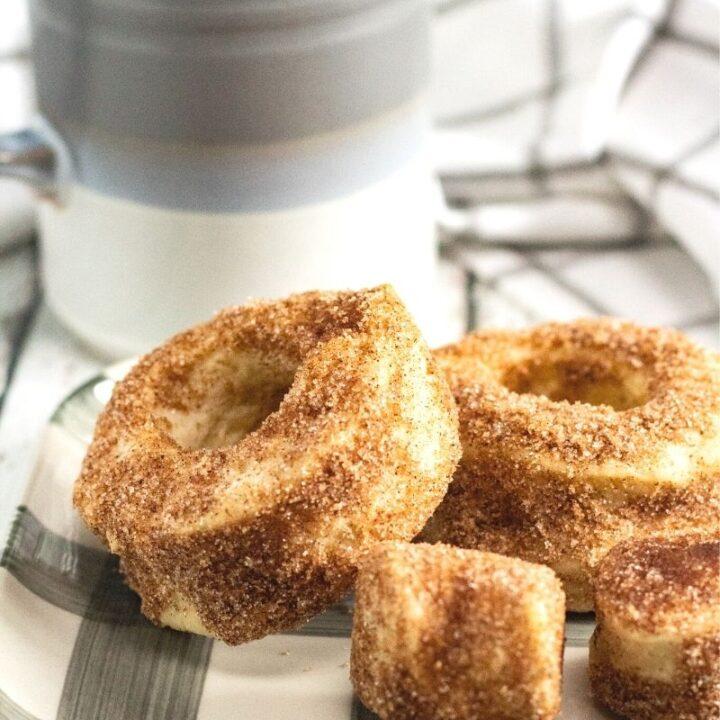 Air Fryer Cinnamon Sugar Pumpkin Spice Donuts