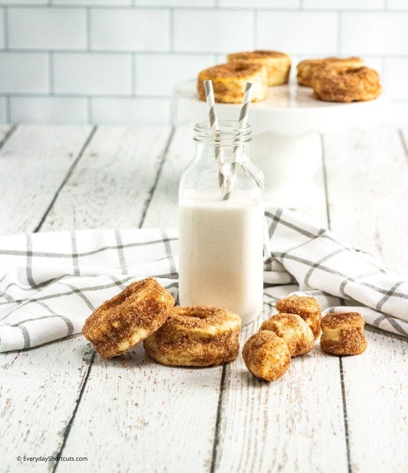 Air Fryer Cinnamon Sugar Pumpkin Spice Doughnuts