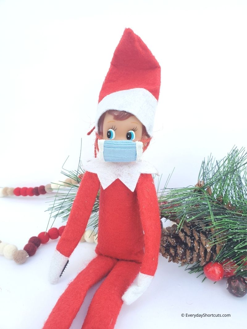 DIY Elf on the Shelf Face Mask