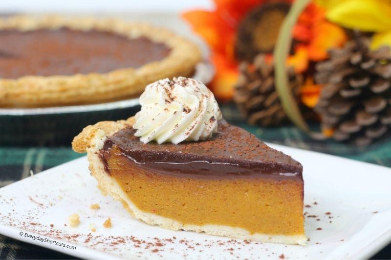 how to make Pumpkin Pie with Pumpkin Spice Chocolate Ganache