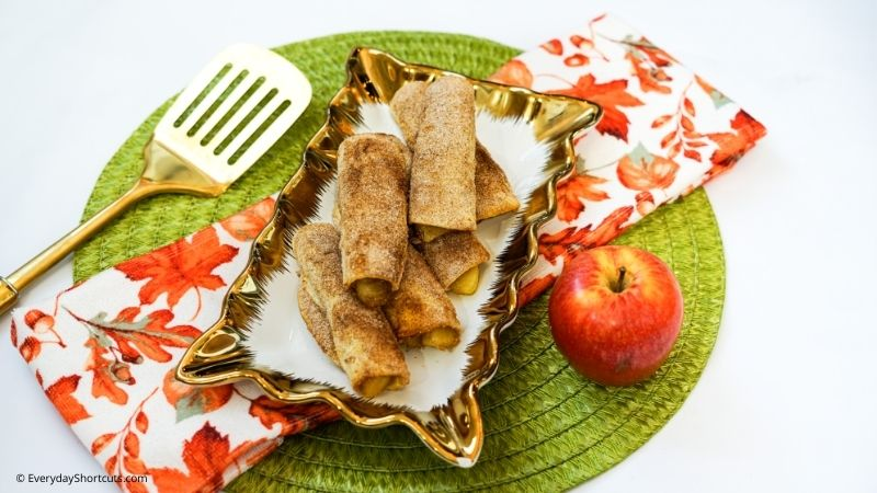 Apple Pie Roll Ups in the Air Fryer