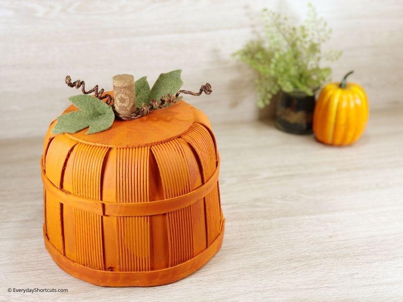 how to make a DIY Bushel Basket Pumpkin