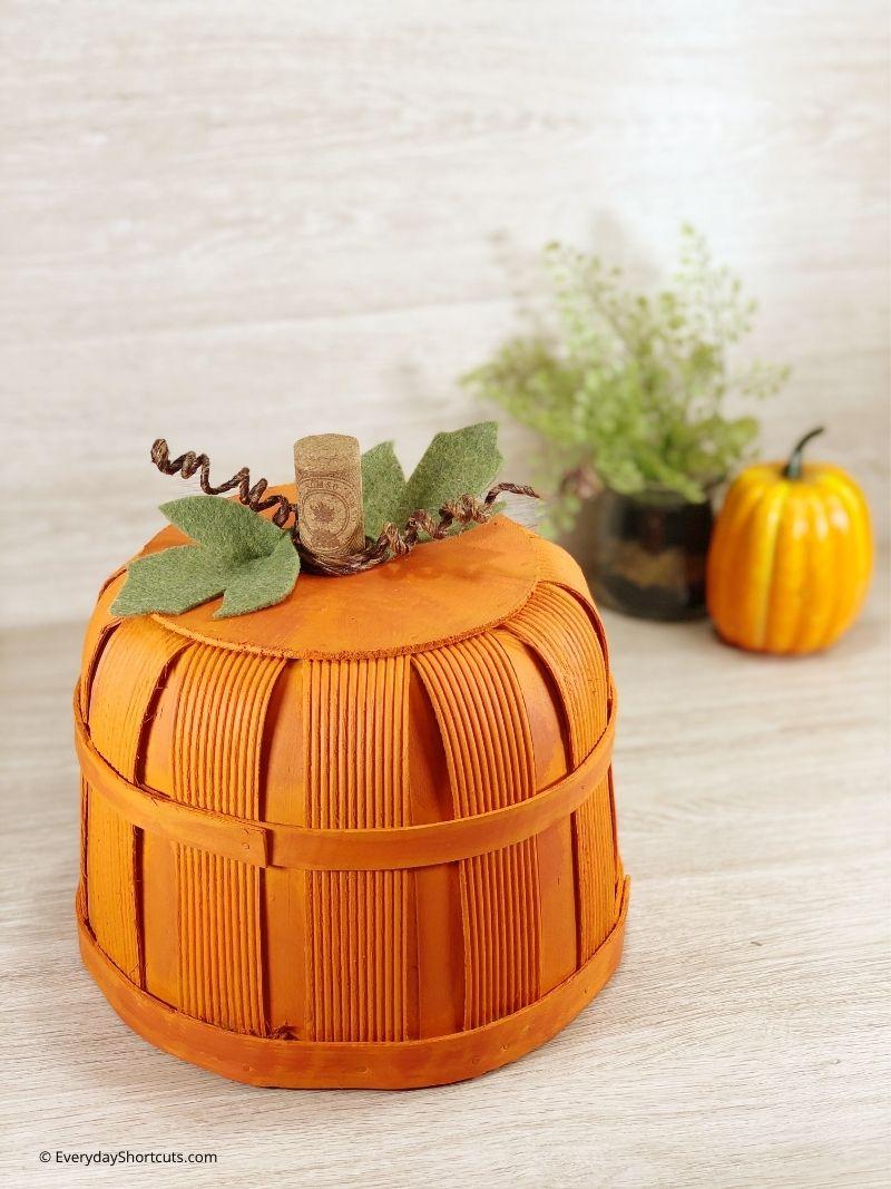 DIY Bushel Basket Pumpkin