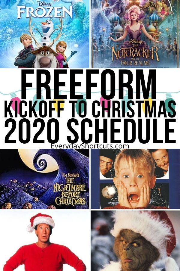Freeform Kickoff to Christmas 2020 Schedule