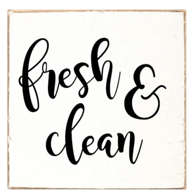 Rustic Marlin Fresh & Clean Sign Image