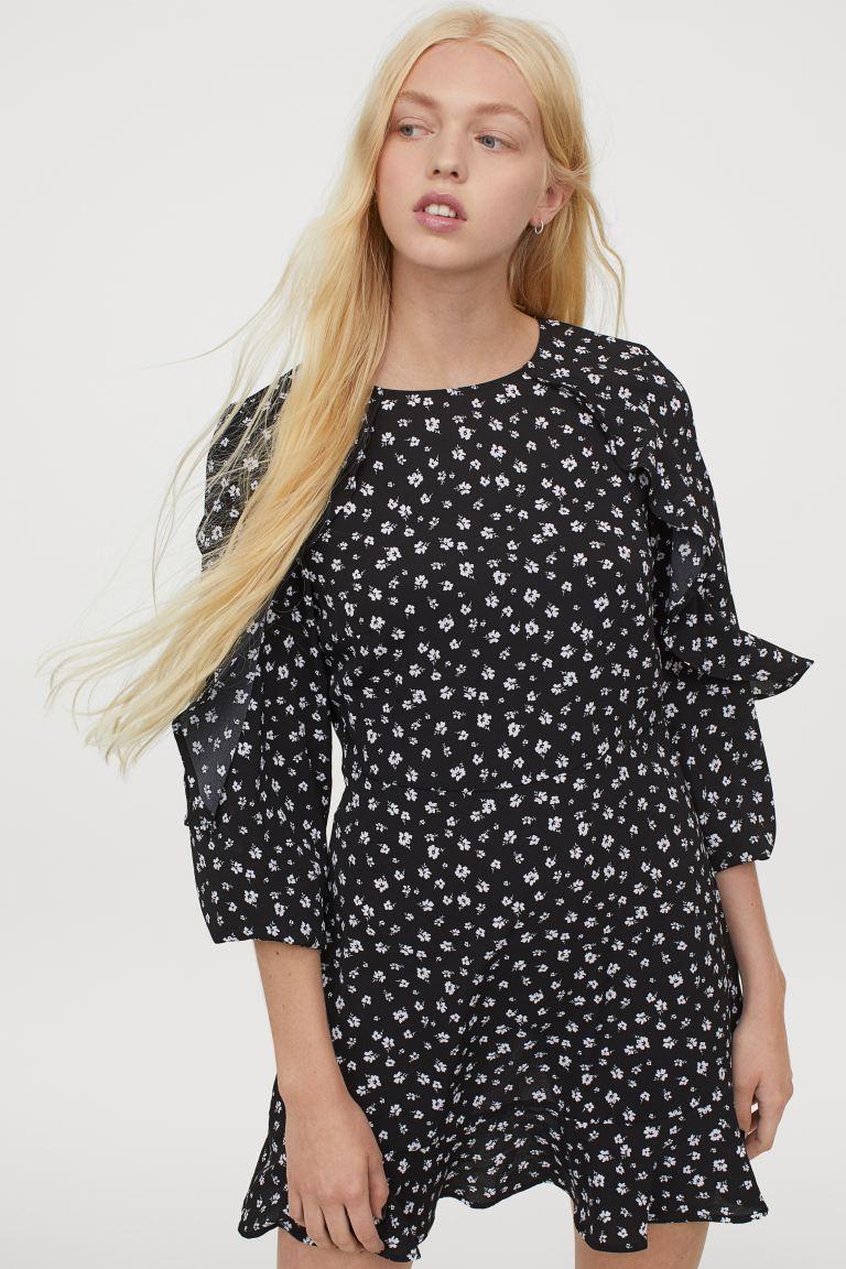 H&M Flounce Trimmed Dress Image