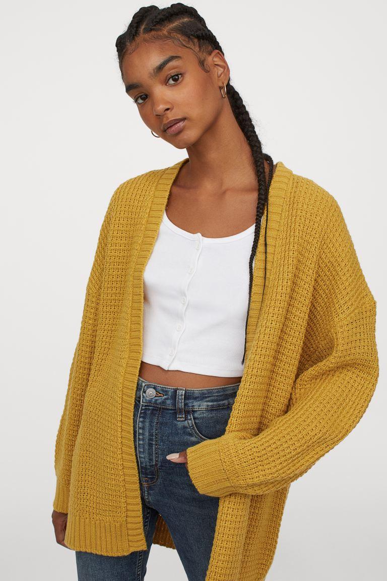 H&M Textured Knit Cardigan Image