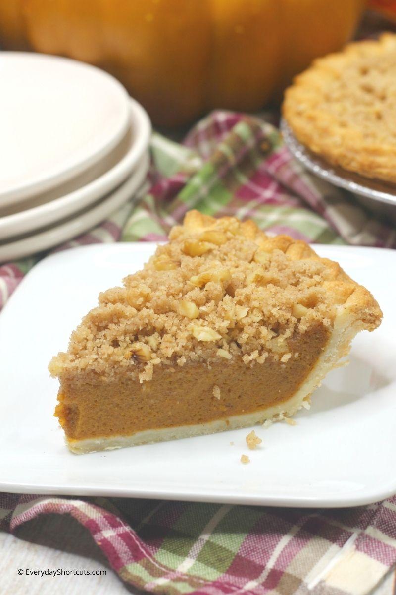pumpkin streusel pie