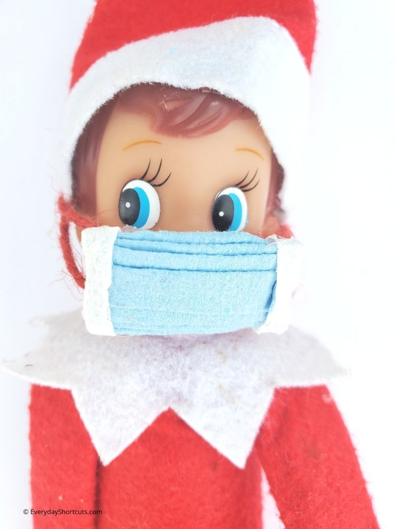 How to Make Elf on Shelf Face Mask