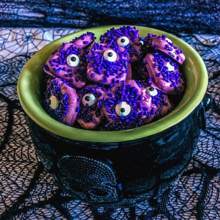 Purple People Eater Pretzels