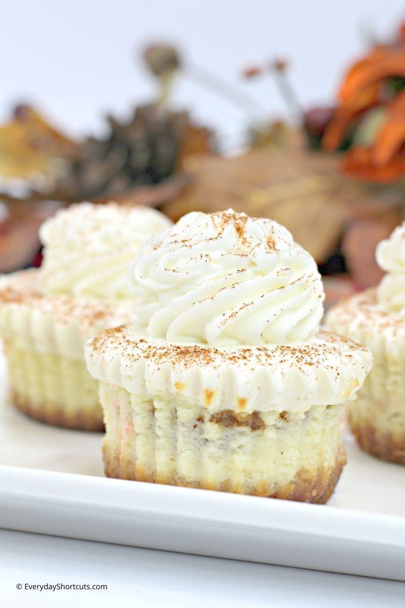 pumpkin swirl cheesecakes