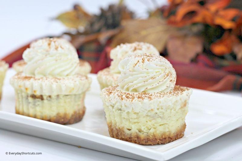 how to make Mini Pumpkin Swirl Cheesecakes