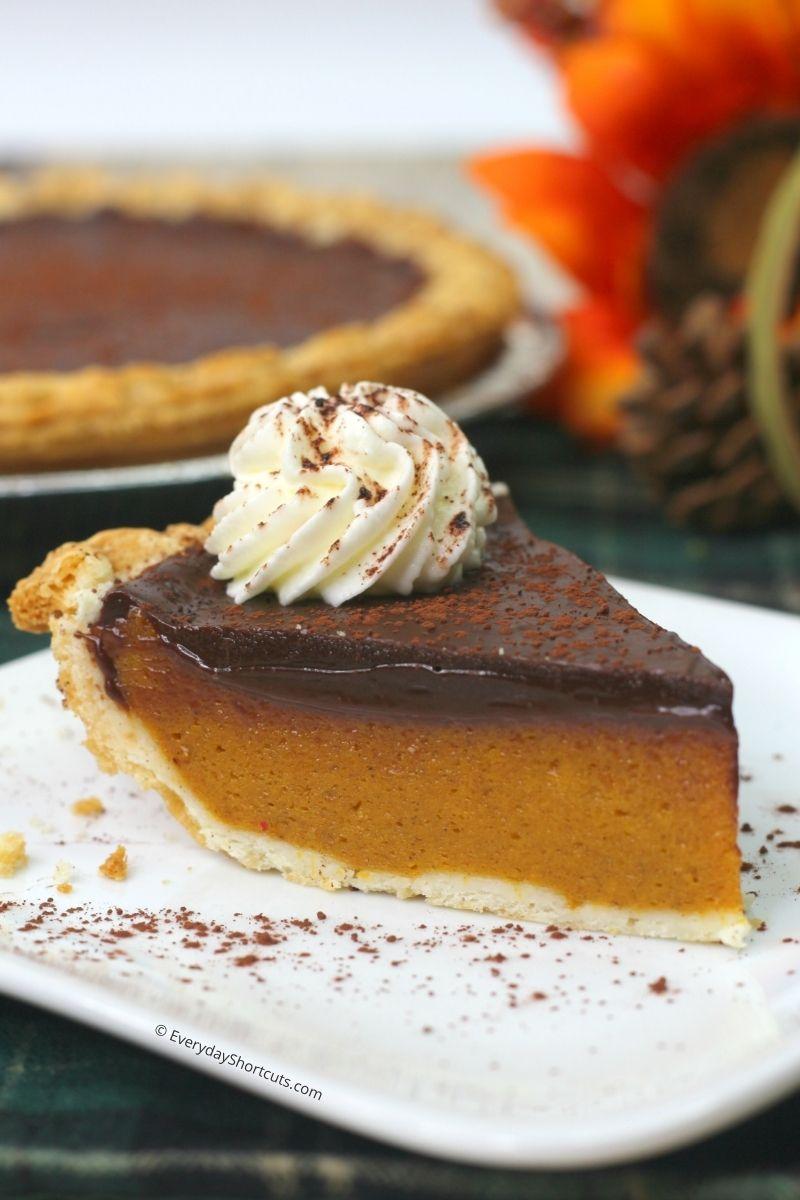 Pumpkin Pie with Pumpkin Spice Chocolate Ganache