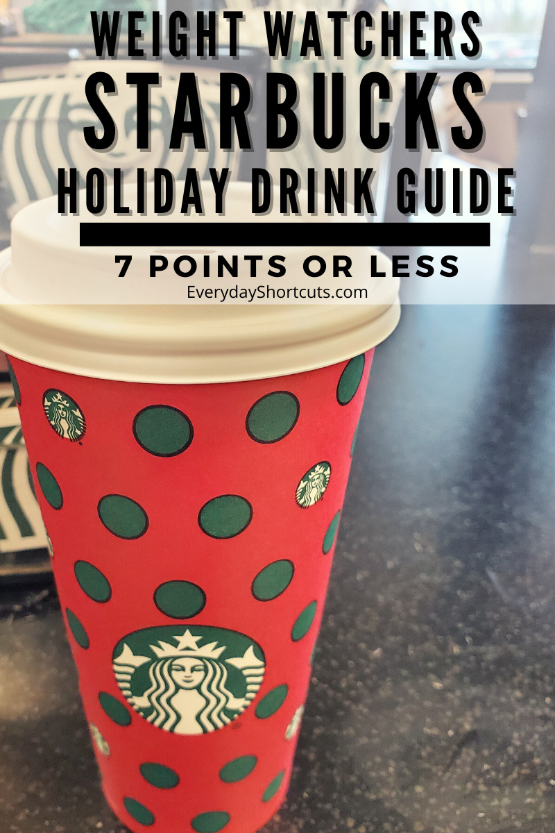 Weight Watchers Starbucks Holiday Drink Guide