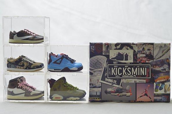 Kicksmini Travis Scott Mini Sneaker Collection with Case Image